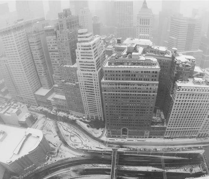 city in snow